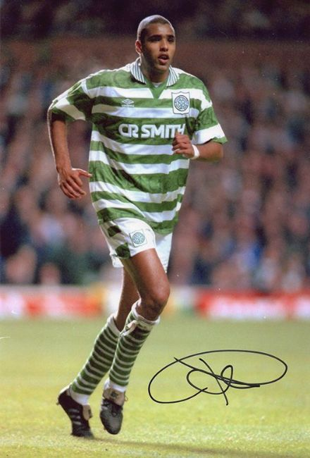 Pierre van Hooijdonk, Glasgow Celtic, Holland, signed 12x8 inch photo.